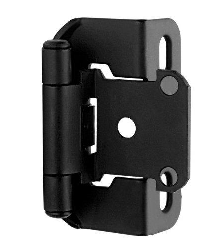 Kitchen Cabinet Hardware Location: Amerock BP7550FB Self-Closing Hinge, Flat Black, 2-1/4