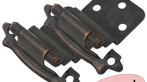 Cosmas 17328 ORB Oil Rubbed Bronze Cabinet Hinge 3/8u2033 Inset [17328 ORB] U2013  10 Pair Pack Color/Finish: Oil Rubbed Bronze Closing Action: Self Closing  Overlay: ...