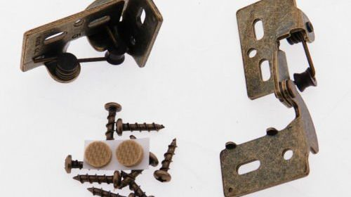 2 Self Closing Concealed Cabinet Hinge 5/16u2033 Overlay Antique Brass  Youngdale #5 Full 180 Opening, Single Pivot Point, Concealed U0026 Snap Close  Vertical And ...