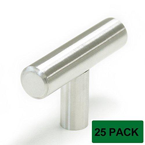 probrico pd201hss kitchen cabinet handles 25 pack drawer knobs satinless steel tknob