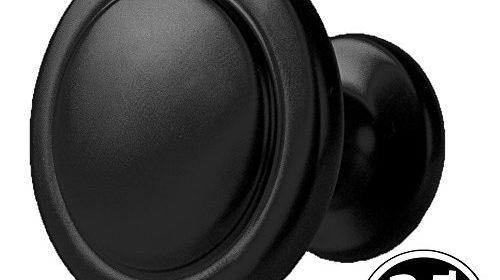flat black kitchen cabinet knobs u2013 1 14 inch round drawer handles u2013 25 pack of kitchen cabinet hardware strong durable design u0026 elegant black finish make