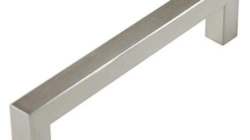 probrico stainless steel kitchen cabinet square handles brushed nickel 5 in holes centers 55 in total length 30 pack june 14 cabinet hardware