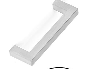 BirdRock Home Square Contemporary Handle | Brushed Nickel | 10 ...