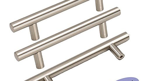 15pack goldenwarm brushed stainless steel kitchen hardware cabinet handles and knob euro style t bar furniture door drawer pull knobs hole spacing 76mm 3in