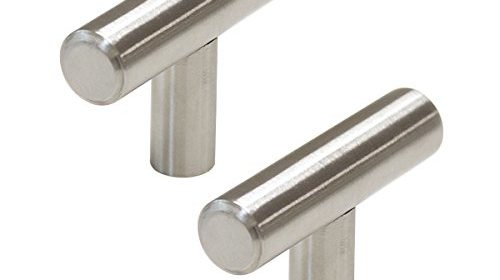 probrico pd201hss kitchen cabinet drawer handles and pulls stainless steel tknob 10 pack hollow stainless steel cabinet handles brushed nickel finish