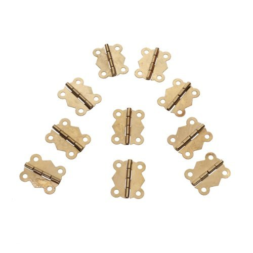 Kitchen Cabinet Hardware Location: 20 Pcs Mini Iron Butterfly Hinges Cabinet Drawer Door Butt
