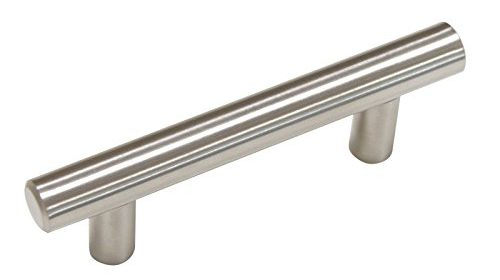 25 pack 76mm3inch hole centers stainless steel kitchen cabinet door handles and pulls european style cabinet knobs length 127mm5inch brushed nickel